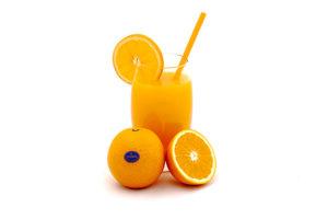 Composición zumo de naranja